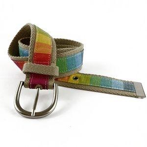 Aeropostale Rainbow Colored Belt Small